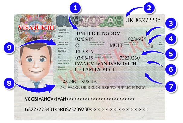 Как выглядит гостевая семейная виза в Великобританию